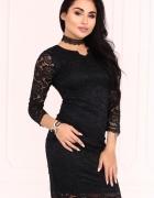 Koronkowa sukienka czarna S M L XL KOLORY...