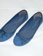 niebieskie balerinki 36 37...