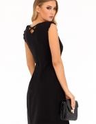 sukienka dekolt plecy chaber czarna fuksja S M L XL...