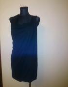 śliczna czarna sukienka S wycięcia zip...