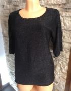 Sweter sweterek czarny ozgobny siateczka V...