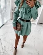 Sukienka Linea koszulowa turquoise...