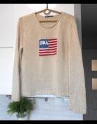 vintage sweter flaga usa...