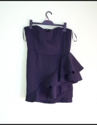 H&M Czarna mini gorsetowa sukienka falbana...