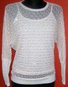 Super sexy sweter nietoperz KIMONO oversize mgiełk...