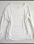 RAINBOW Biała bluzka tunika oversize 42 XL...