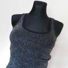 Vero Moda bluzka top czarna srebrna 36 38