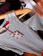 NOWA cekinowa sukienka BooHoo srebrna wycięcia