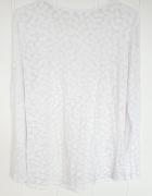 Lekka biała bluzka wzór serduszka L 40 serca mgiełka top...