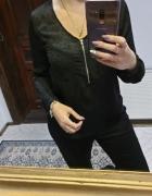 Cubus czarna bluzka z zamkiem i kieszonkami r 40...