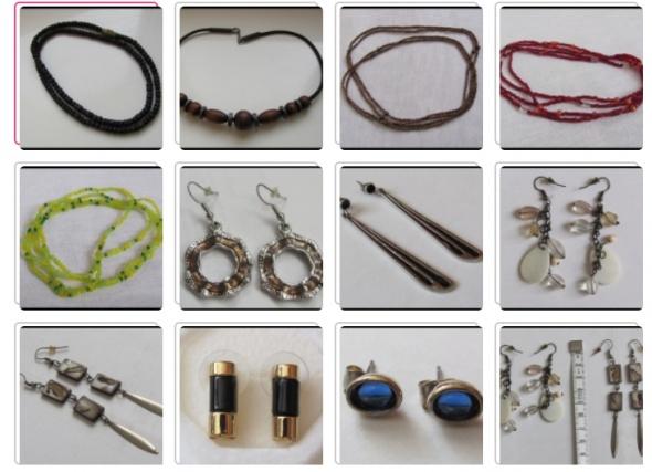 biżuteria kolczyki i naszyjniki z drobnych koralików 11 sztuk...