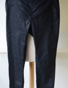 Spodnie Tregginsy XXL 44 Czarne Rurki H&M Woskowane