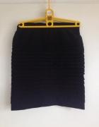 Ołówkowa bandażowa mini czarna spódnica elastyczna XS S M XL 34...