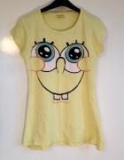 Spongebob koszulka fantowska używana żółta uśmiech XS S M 34 36...
