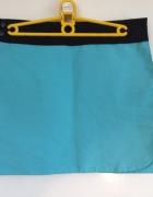 Podwójna spódnica zapinana na rzep i guziki turkusowa czarna M ...