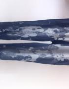 Legginsy marmurkowe jak jeansy hit modne XS S 34...