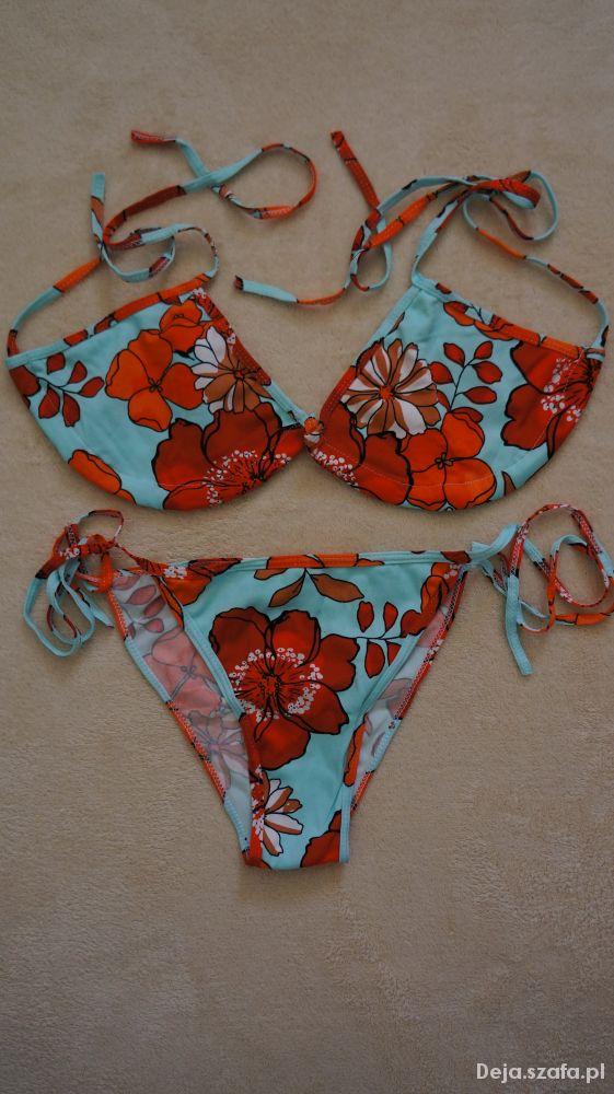Bikini kostium kąpielowy w kwiaty NOWY