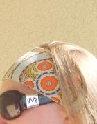 Kolorowa opaska na włosy wzorzysta opaska na włosy...