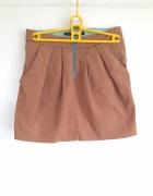 Zara spódnica mini 36 S tulipan używana brązowa z kieszeniami i...