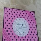 DEKORACYJNE pudełko Na Biżuterię Kwadratowe w kropki