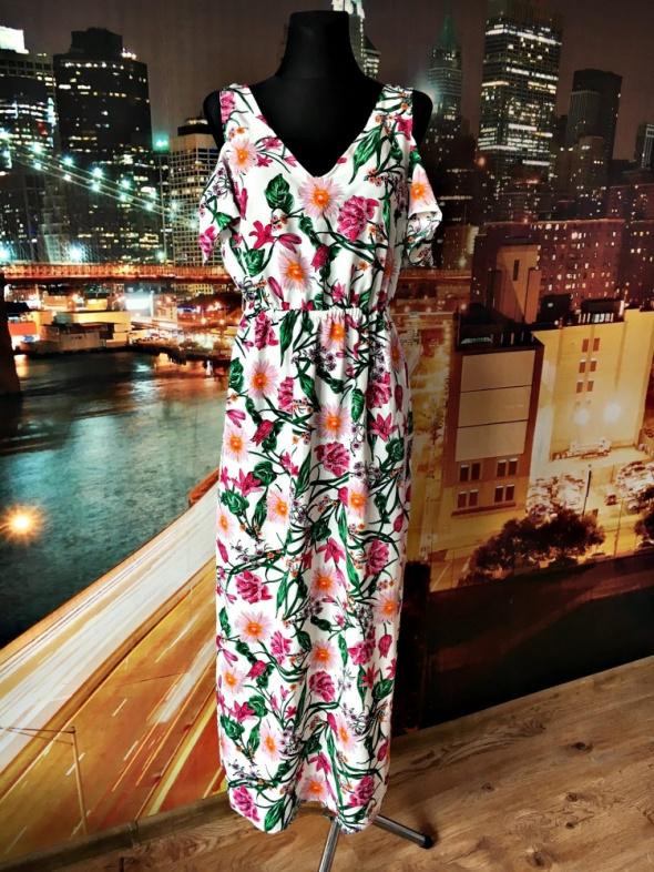 dunnes stores sukienka maxi kwiaty floral jak nowa 40 L...