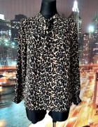 dunnes stores bluzka luźny fason modny wzór panterka jak nowa 3...