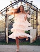 Nowa przepiękna tiulowa sukienka wesele S...
