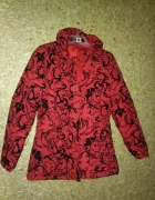 Czerwona dziewczęca kurtka we wzot 134 cm 9 10 lat...