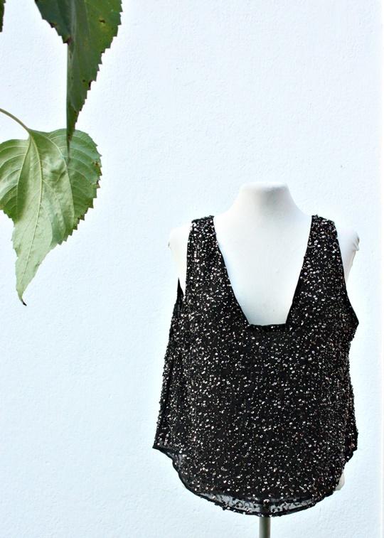 Bluzka Zara Basic cekiny