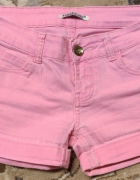 Spodenki na lato krótkie neon neonowe różowe Place du Jour rozm...