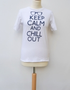 Bluzka T Shirt Biały Keep 158 cm XS 34 Rebel Biel...