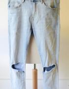 Spodnie H&M Jeans Super Skinny 30 32 Dziury L 40...