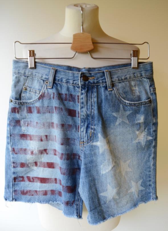 Spodenki Spodenki Flaga USA Jeans S 36 Krótkie Saint Tropez