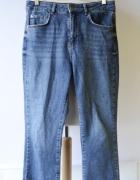 Spodnie L 40 Gina Tricot Dzinsowe Postrzępione Nogawki Proste...