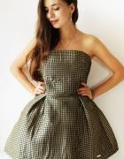 sukienka złotoczarna M