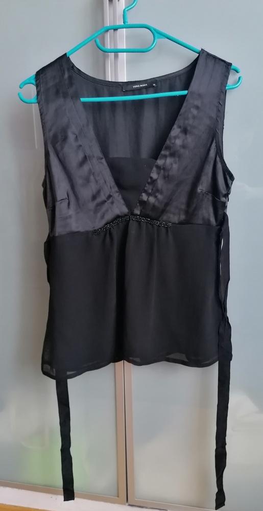 Czarna satynowa bluzka Vero Moda rozmiar S...