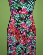 Sukienka tropikalny wzór...