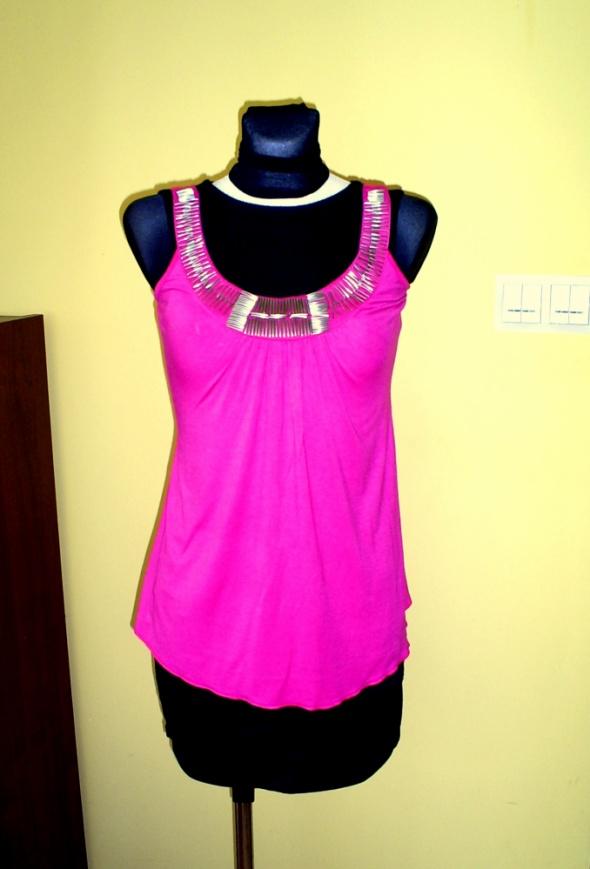 Tuniki Tunika różowa asymetryczna