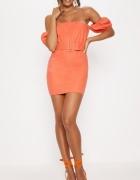 Sukienka mini z odkrytymi ramionami rozmiar XS S...