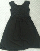 Sukienka koronkowa rozkloszowana lekka kokardki S...