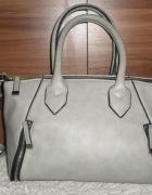 Szara torebka kuferek F&F ozdobne zamki...