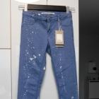 Zara nowe jeansy plamy dziury skinny slim jasne rurki
