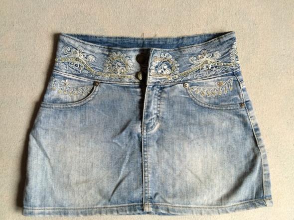 Spódnice jeansowa spódniczka z cekinami