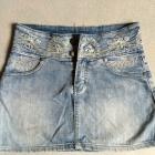 jeansowa spódniczka z cekinami