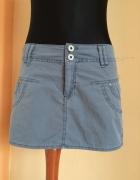 Szaro niebieska spódniczka reserved...