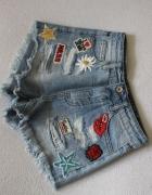 krótkie spodenki jeansowe xs...