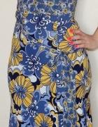 Orsay Sukienka za kolano na ramiączkach wiązana w talii kwiaty ...