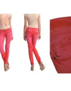 Troll rurki czerwone vintage Top Secret 42 XL