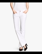 H&M Bootcut spodnie białe proste kowbojskie XXL