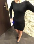 Sukienka czarna z brokatem H&M Zara S dekolt...